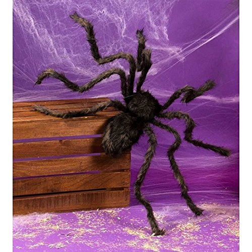 COOL IDEA Black plush spider Halloween party home horror spoof Tricky Funny bar decoration 2pcs