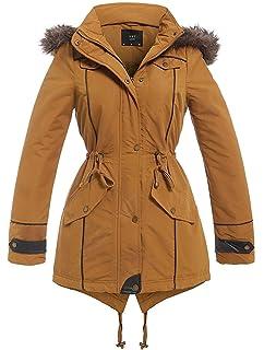 18 Coat Details Puffer 24 20 Parka Plus Padded Jacket Fur Size Faux zu Mustard Womens 22 Y6gbf7vIy