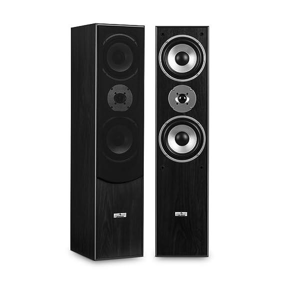Set equipo de sonido estéreo HiFi (Amplificador audio PA DJ 2000W USB SD, altavoces 3 vías 1000W, 2X cable altavoz incluído, ideal karaoke o ...