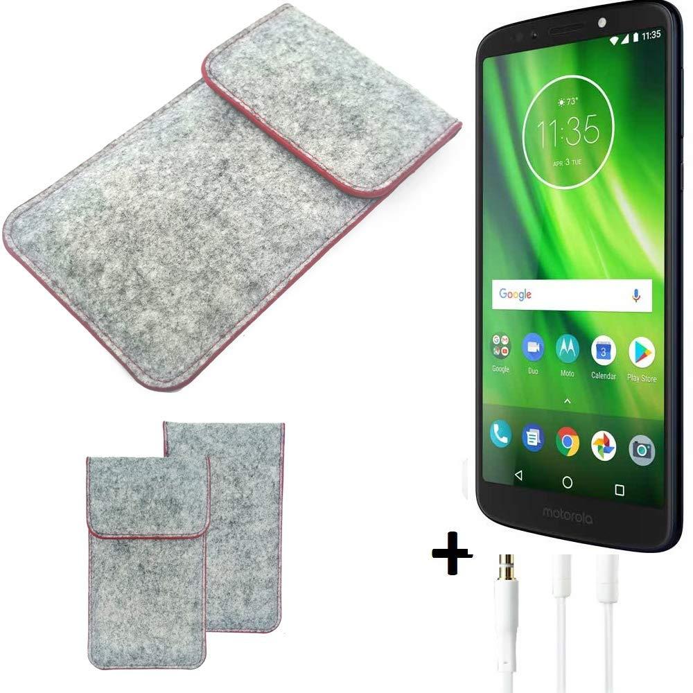 K-S-Trade® Funda Protectora De Fieltro para Motorola Moto G6 Play ...