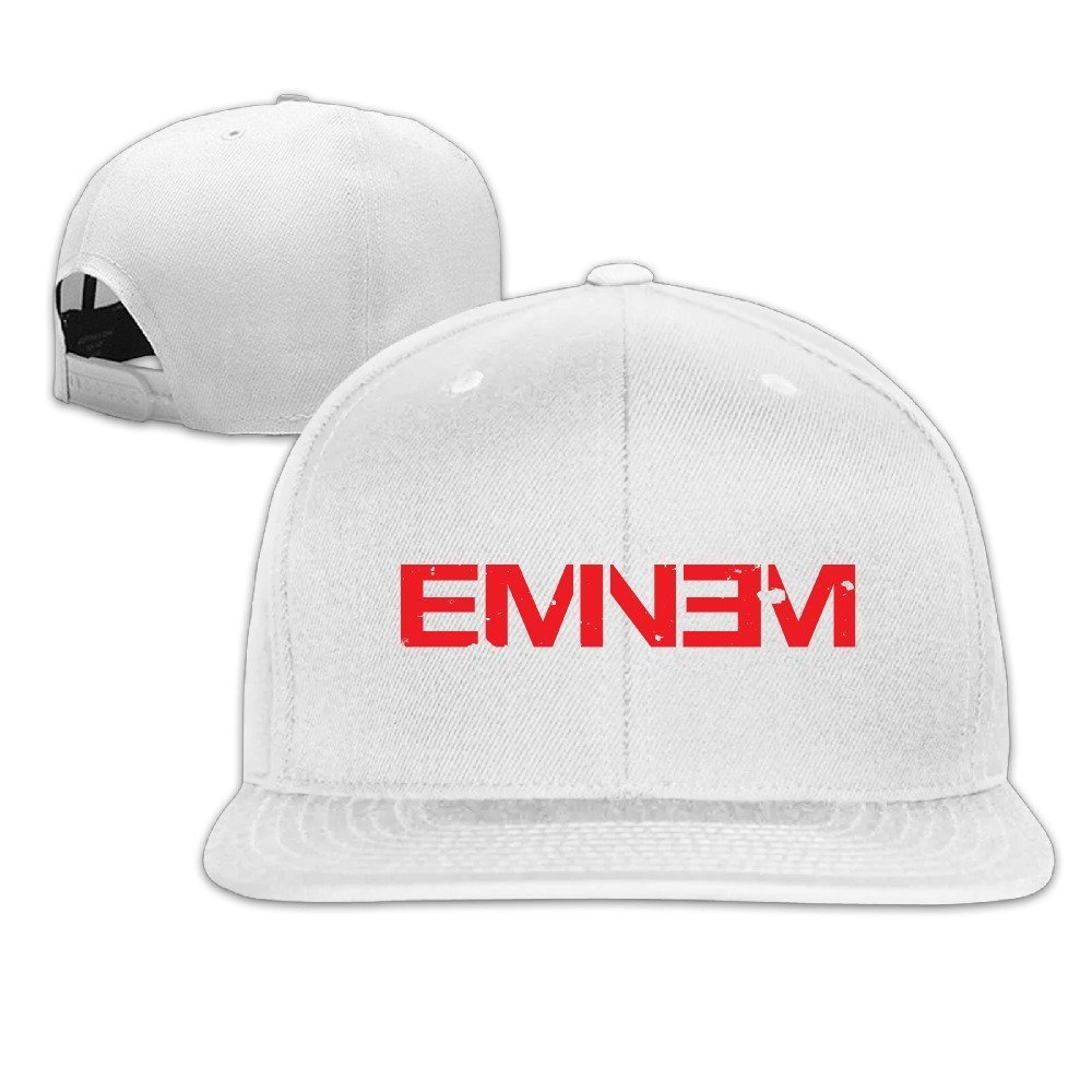 Hittings Eminem Double M M & M Rapper Record Producer Song Writer Actor FLAT Bill Snapback Adjustable Sports Hats Black White