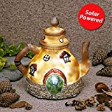 Garden Glows Solar Powered LED Fairy House Ornament Rain Pepperfilter