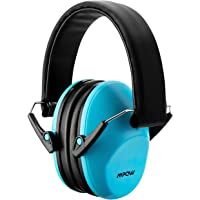 Mpow 068 Kids Ear Protection Safety Ear Muffs, NRR 25dB Professional Noise Reduction Shooter Hearing Protection, Ear Defenders for Shooting Range Hunting Season for Children, Toddler, Women (Blue)