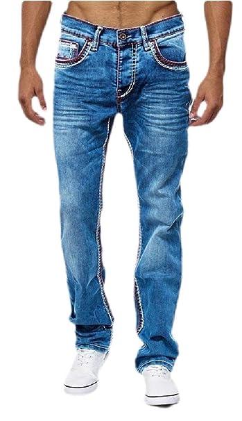 BingSai Pantalones Vaqueros cómodos y elásticos con Cintura ...