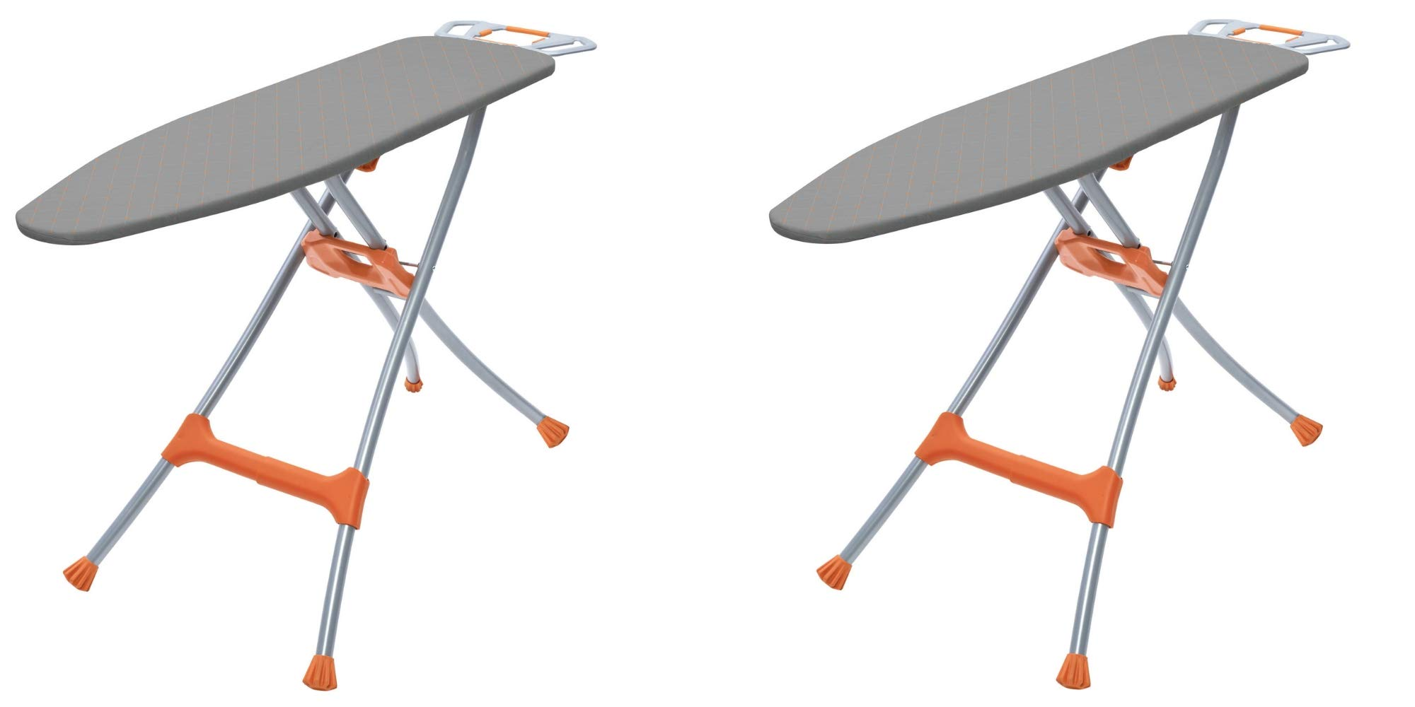 Homz Durabilt Premium Steel Mesh Top Ironing Board, Silver/Orange / 2-Pack
