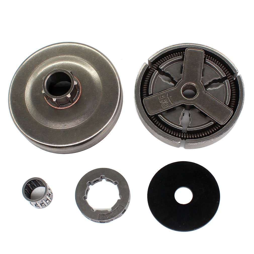 Aisen Clutch Assy For 4500 5200 5800 Chinese Chainsaw 45cc 52cc 58cc TARUS MT-9999 Clutch Drum Needle Bearing Rim Kit