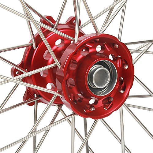 1.6x21'' 2.15x19'' Wheels Rims & Hubs & Spokes & Front Rear Brake Disc & Sprocket & Spacer Raiser - Honda CRF250R 15-17 CRF450R 15-17 by Unknown (Image #6)