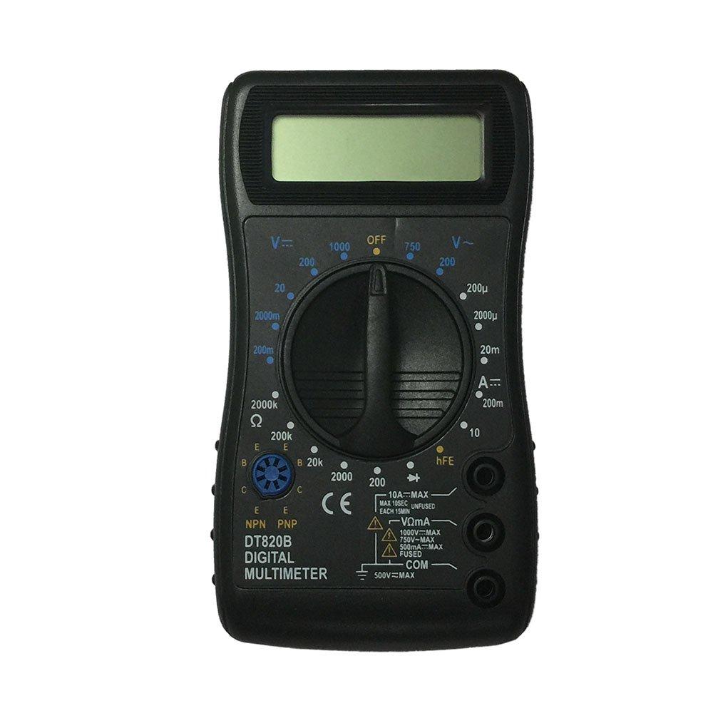 OLSUS DT820B LCD Handheld Digital Multimeter, Using for Home and Car - Black