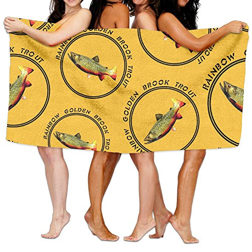 Rainbow-Golden-Brook-Trout Yoga Towels Softness And Absorbency Polyester Bath ()