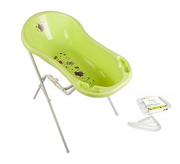 Baby Badewannenständer + Babywanne XXL  aquamarin Ständer Badewanne