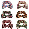Kids Infant Baby Girl Hair Bows Headbands Hair Bands Knot Turban Headwraps (Big Bows 6PCS)