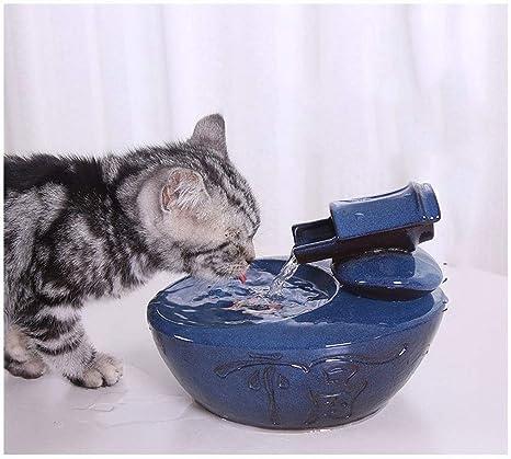 Bebedero Gatos Fuente de agua para mascotas, 1.0L Automático ...