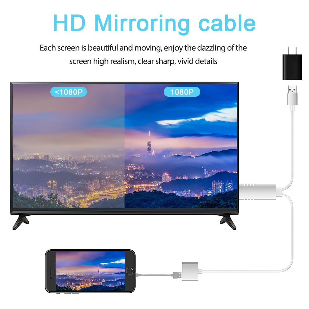 MHL to HDMI Adapter for Smartphones, WEILIANTE HD 1080P HDMI Adapter 1080P Digital AV Adapter HDTV MHL Cable Support All Smartphones to Mirror on TV/Projector/Monitor by WEILIANTE (Image #3)