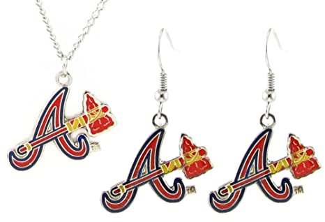 27bd2f99982 Image Unavailable. Image not available for. Color: Atlanta Braves - MLB  Earrings & Pendant ...