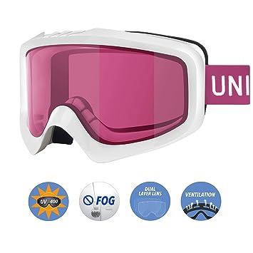 94d5b00d1f Unigear Gafas de Esquí OTG Esquiar Protección UV 400 Snowboard Revo Lentes  Doble Anti-Niebla Anti-Reflejo de Nieve para Adulto Mujer Hombre:  Amazon.es: ...