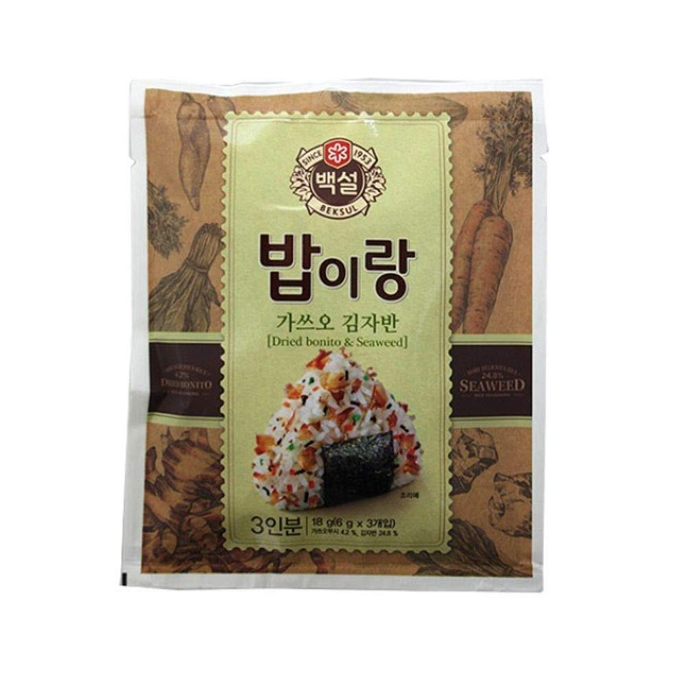 CJ Beksul Rice Furikake (Dried Bonito & Seafood) 6g x 3 (18g)