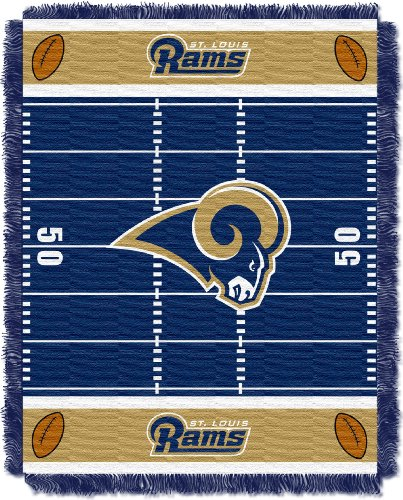 (The Northwest Company Officially Licensed NFL St. Louis Rams Field Bear Woven Jacquard Baby Throw Blanket, 36