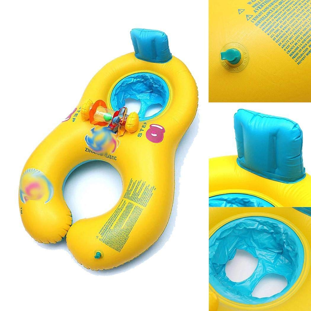 Kaimu Inflatable Mother Baby Swimming Ring Seat Pool Float Toy Baby Floats by Kaimu (Image #5)