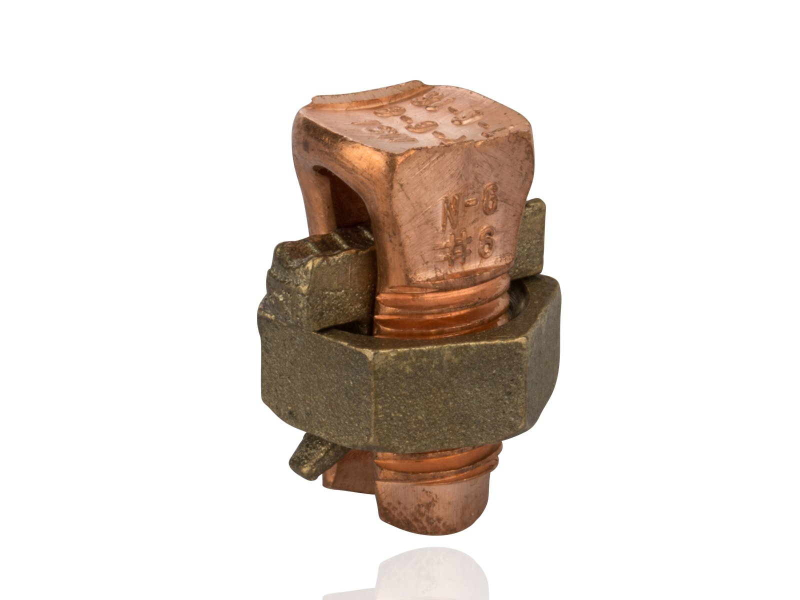 Split Bolt Connector For Copper and Copperweld Wires, 0.102'' - 0.162'' Wire Diameter Range, 165lbs Torque