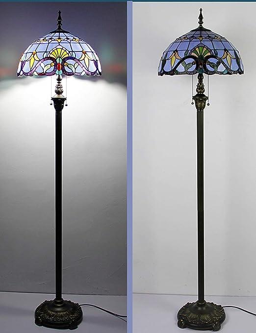 Lámparas de pie Lámpara De Pie Estilo Tiffany, Dormitorio, Lámpara ...