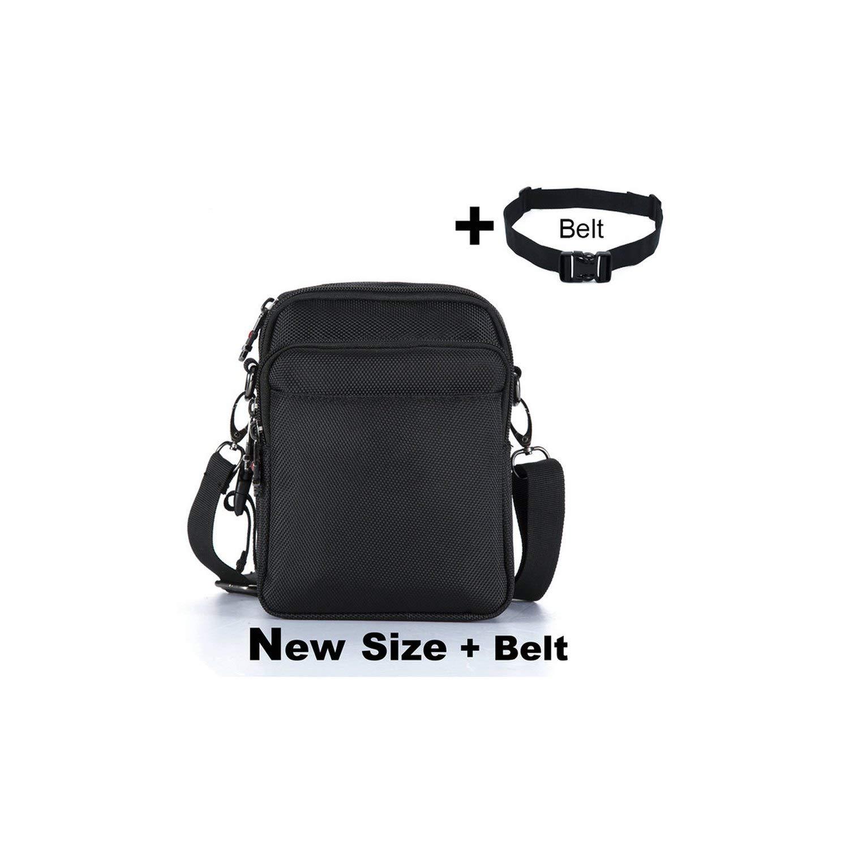 MenS Bag Messenger Bag Waterproof Men Belt Bag Oxford Zipper Bag Crossbody For Male,Size And Belt