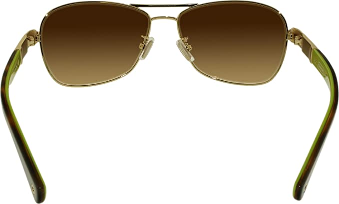 6b130c4e6f190 Amazon.com  Coach Sunglasses - Caroline   Frame  Gold Lens  Brown Gradient   Coach  Shoes