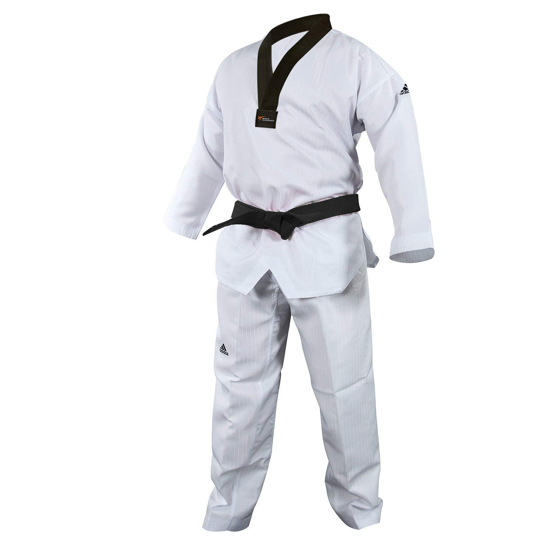 adidas Dobok de Taekwondo, Black-v, WTF Aprobado: Amazon.es ...