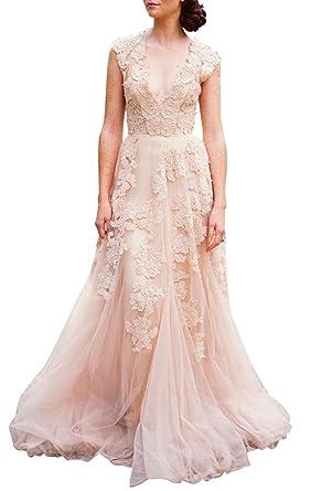 asa bridal womens vintage cap sleeve lace a line wedding dresses bridal gowns lp2
