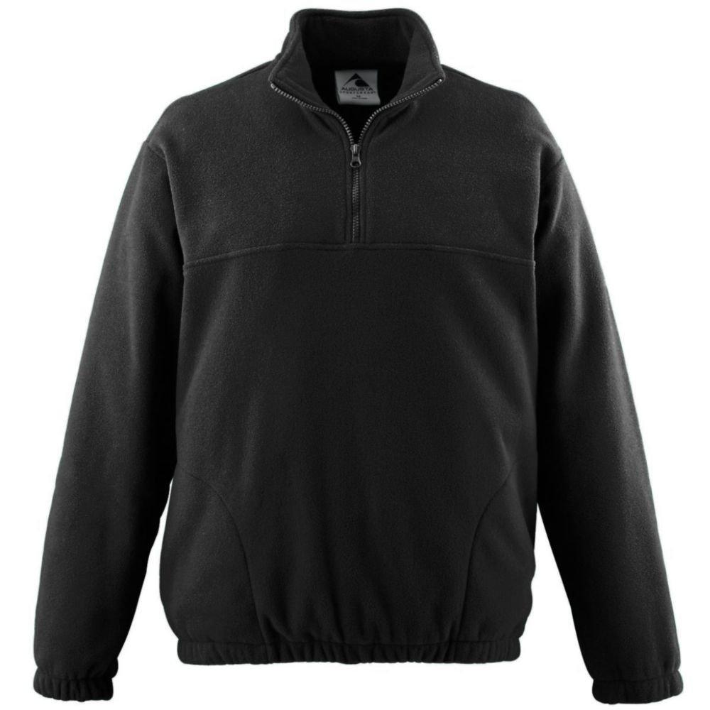 Augusta Activewear Chill Fleece Half-Zip Pillover, Black, Medium by Augusta Activewear