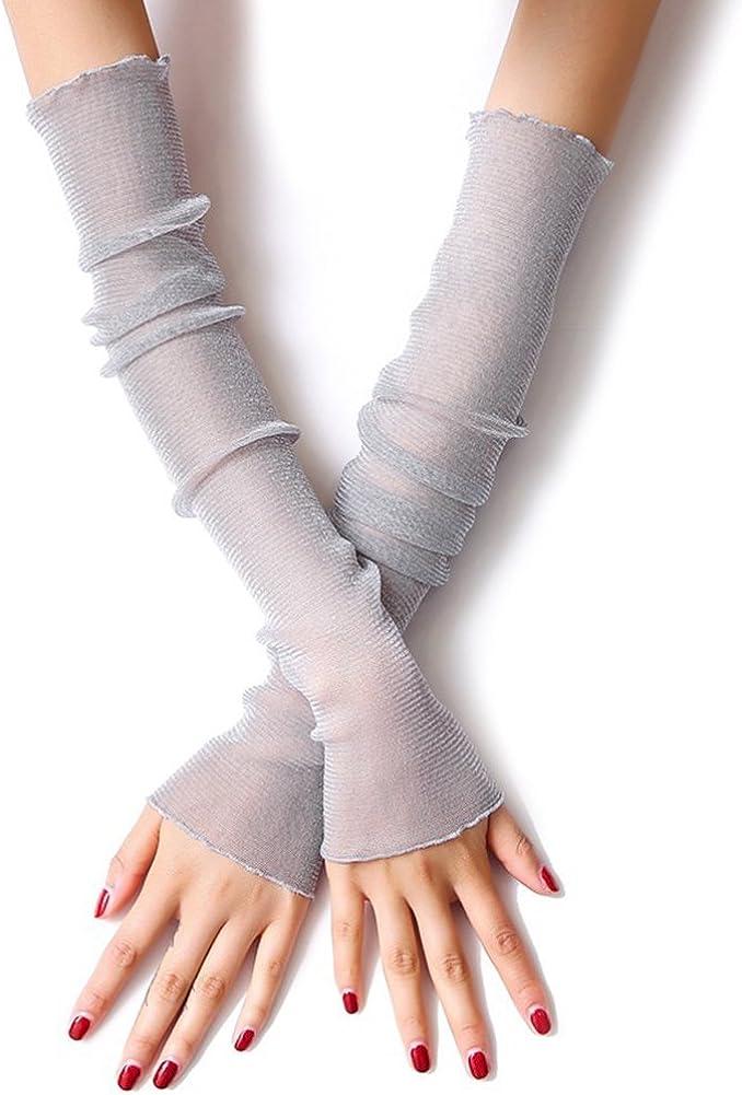 AODEW Women's Long Lace Arm...