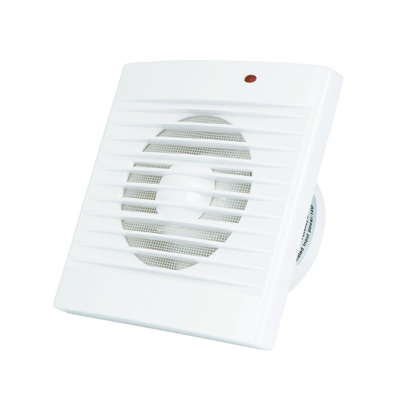Badl/üfter #5 Hon/&Guan 100mm Badl/üfter Silent Abluftventilator f/ür Badezimmer mit Insektennetz