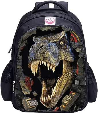 MATMO - Mochila de dinosaurio para niños, mochila escolar personalizable