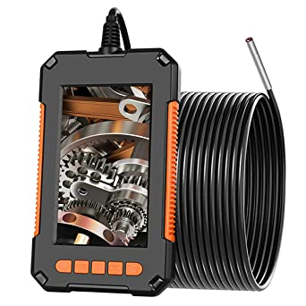 Industrial Endoscope Borescope Camera 1080P HD Video Inspection Camera with IPS Screen 180 Wide Viewing Angle,8 Bright LED Lights,16.4ft,for Car,Air Conditioner Engine Checking,Sewer Drain Inspection
