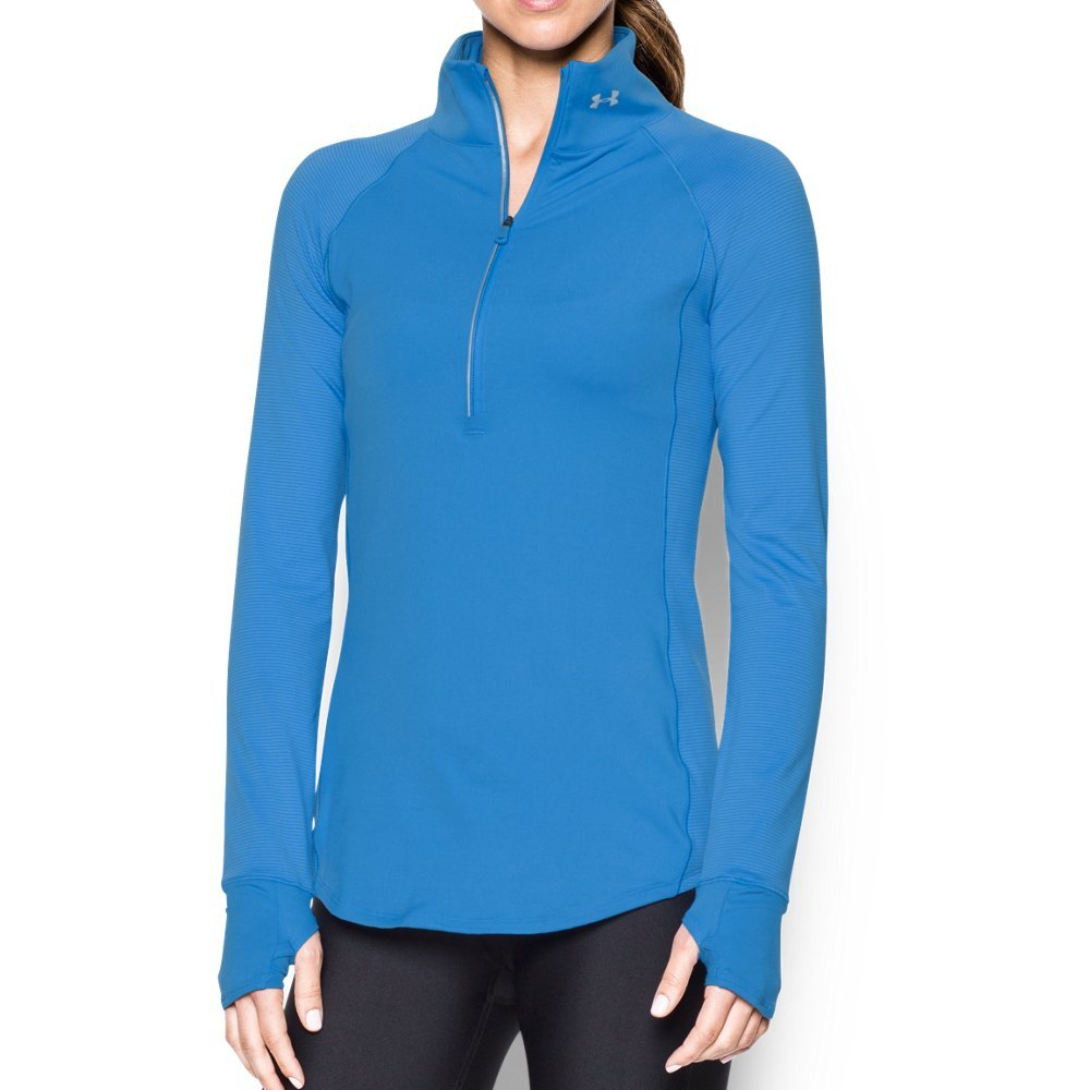 Under Armour Women's Storm Layered Up 1/2 Zip, Water/Reflective, X-Small