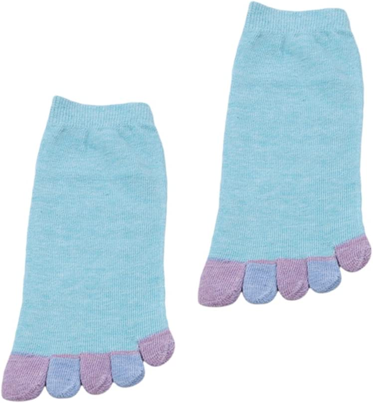 GUAngqi Toe Socks Running Five Fingers Toe Socks Cotton Lightweight Socks for Women,Color Point Beige