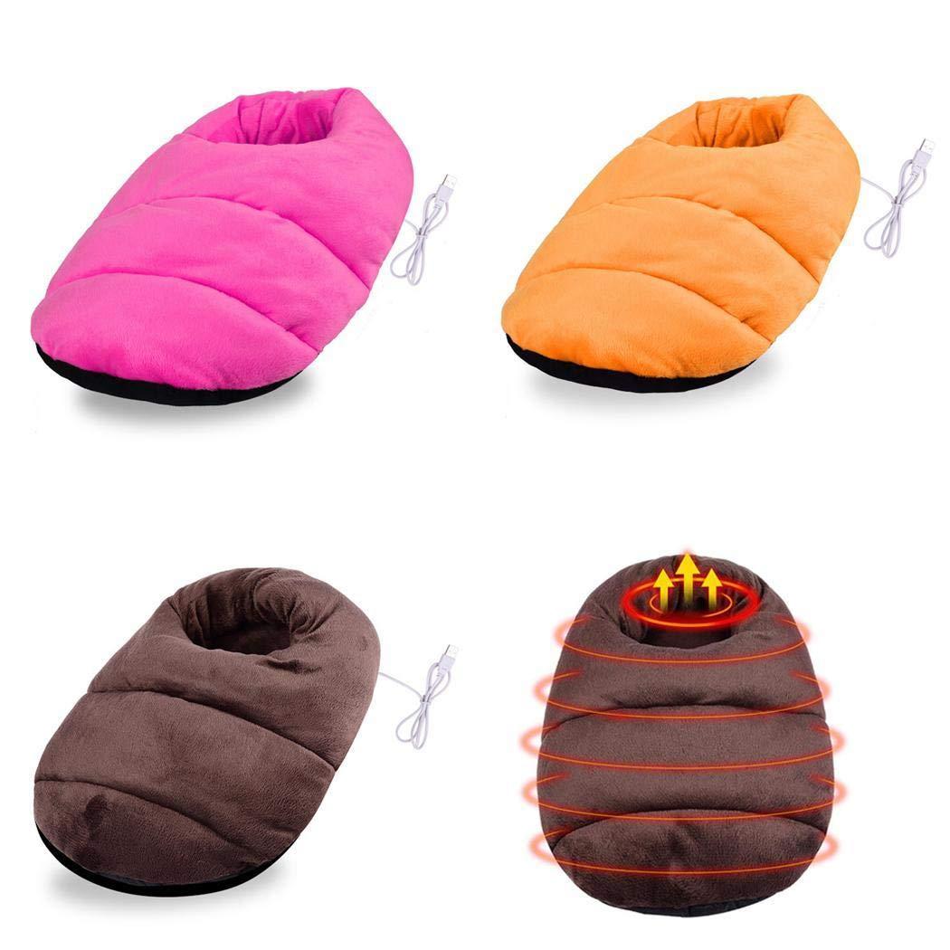 Suidone Chauffe-pieds dhiver USB pantoufles chauffantes /électriques pour la maison unisex