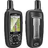 TUSITA Custodia per Garmin GPSMAP 62 62s 62st 62sc 62stc 64 64s 64st 64sc - Custodia Protettiva in Silicone per Pelle - Accessori Navigazione GPS palmare (Nero)