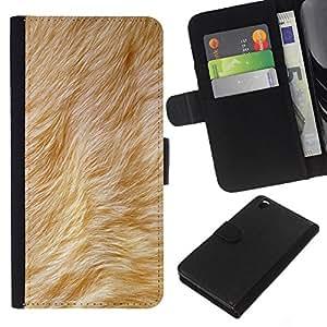 Stuss Case / Funda Carcasa PU de Cuero - Beige Animal del perro amarillo de la piel - HTC DESIRE 816