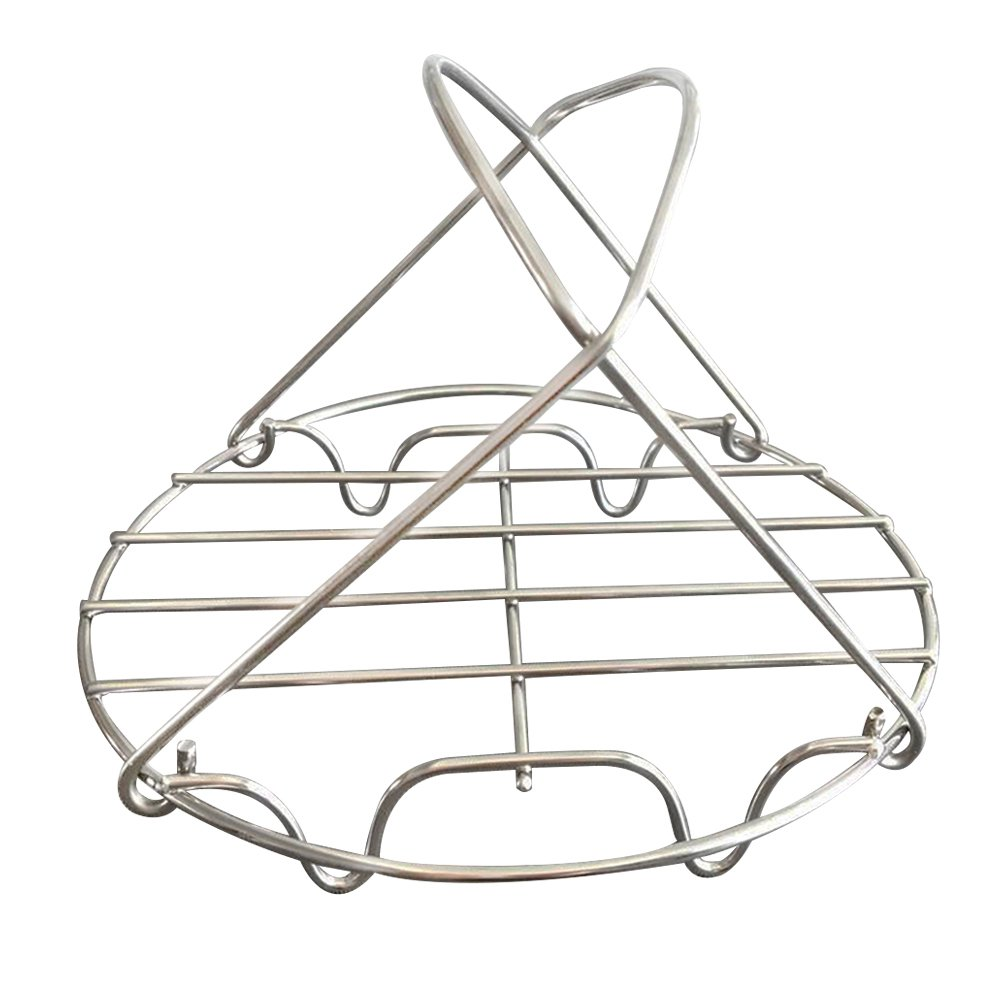 Bloomma Steamer Rack, Stainless Steel Steamer Trivet with Handles Multiple Purposes Accessories for Instant Pot and Electric Pressure Cookers