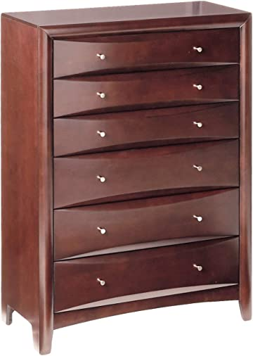 Phoenix 6-Drawer Chest Cappuccino