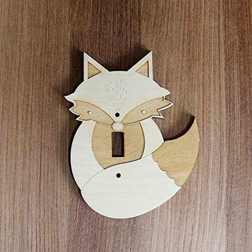 Amazoncom Wood Laser Cut Fox Light Switch Plate Single Switch