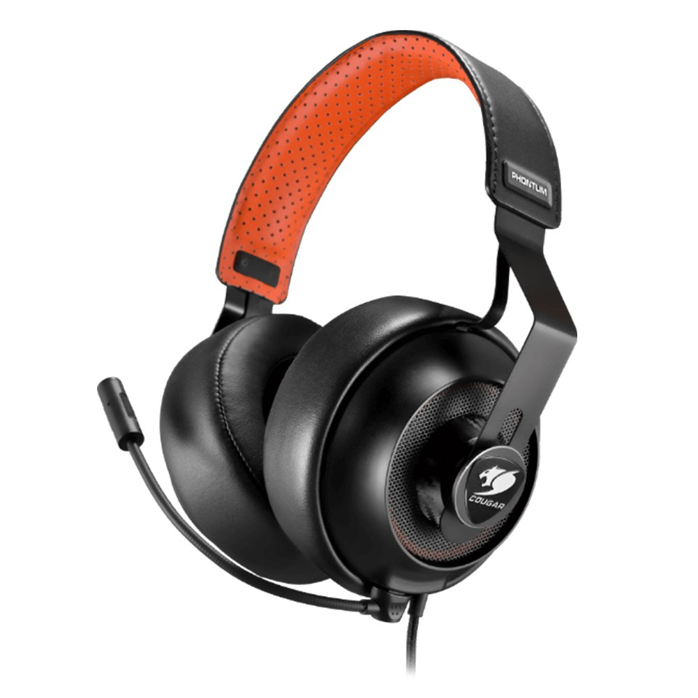 Cougar Phontum Universal Gaming Headset - 53MM Driver with Graphene Diaphragm - Detachable Microphone with Noise Cancellation Technology - Two Sets of Ear Pads for Gaming/Home Use 3H500P53B.0001