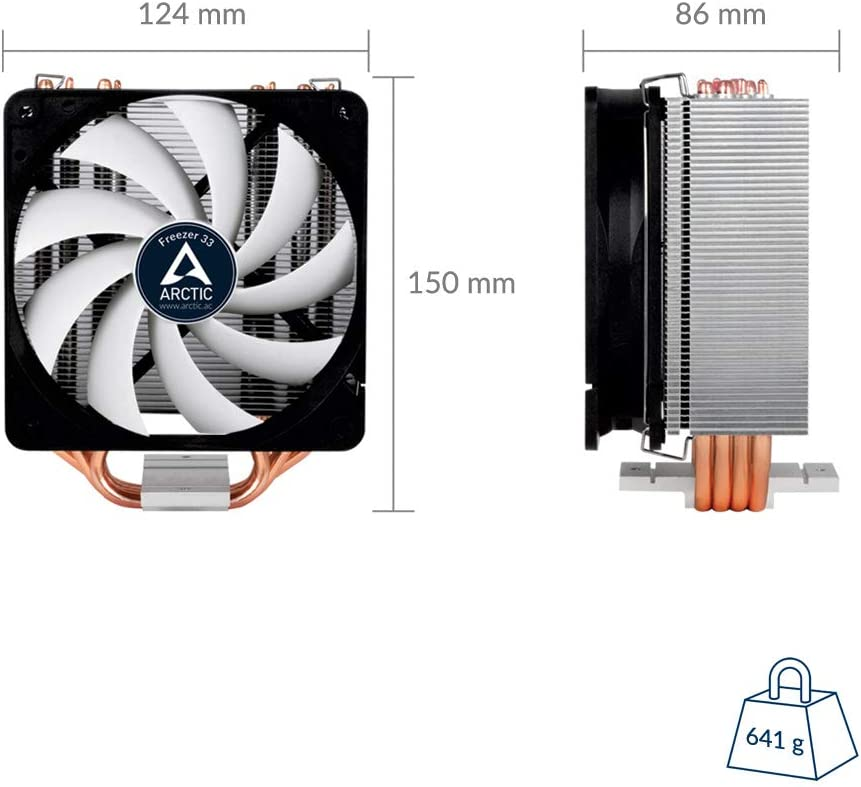 CPU Cooler with PWM Fan for Intel with New Fan Controller ARCTIC Freezer 33