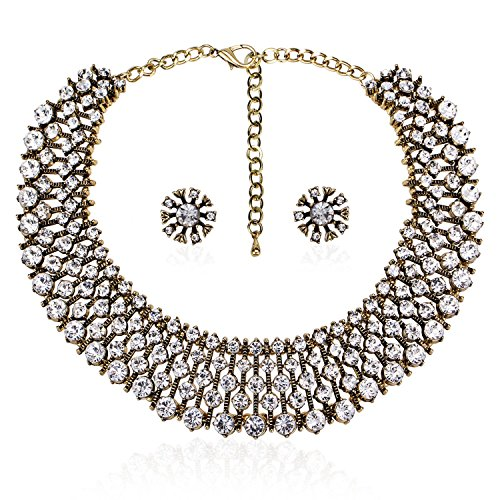 Zhenhui Classic Crystal Necklace Earrings