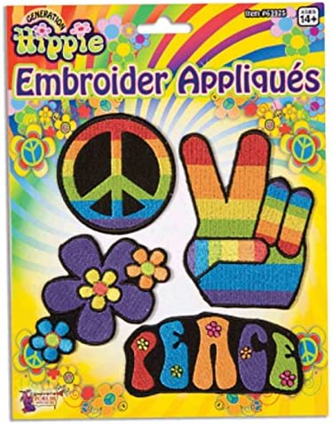 60s , 70s Hippie Clothes for Men Forum Novelties - Hippie Appliques (4/Package) $6.81 AT vintagedancer.com