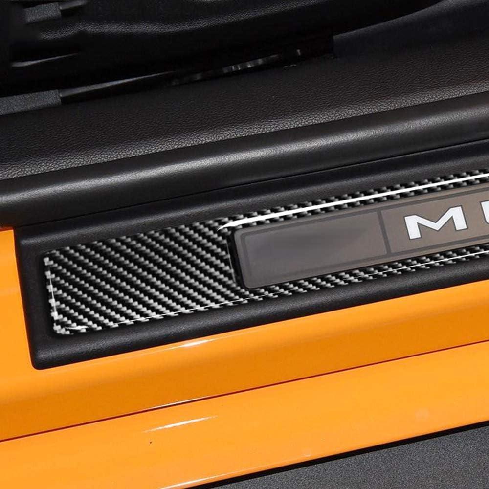 YXSMTB pour Ford Mustang Accessoires 2015 2016 2017 2018 Mustang GT Carbone pour Ford Mustang Autocollants Seuils de Porte Protecteurs Protecteurs