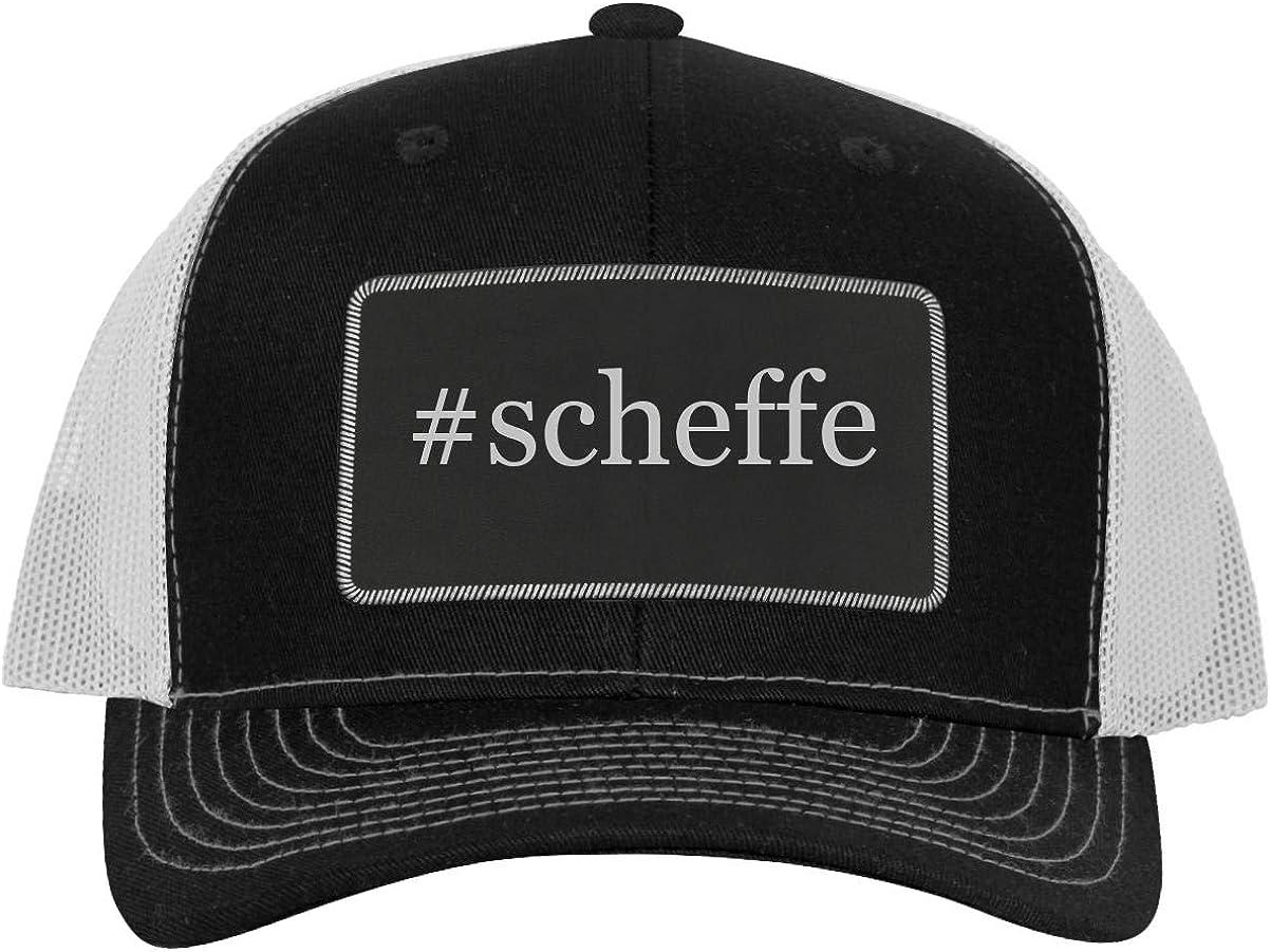 One Legging it Around #scheffe Leather Hashtag Black Patch Engraved Trucker Hat