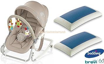 Brevi Silla mecedora Gaia Color Pardo + Par de almohadas Bedding Blue Classic: Amazon.es: Bebé