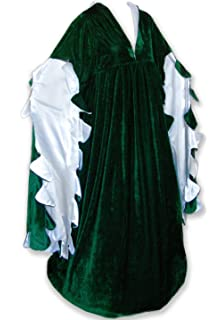 Renaissance Ren Faire Medieval Gown Dress and Chemise SCA LOTR Costume GREEN L