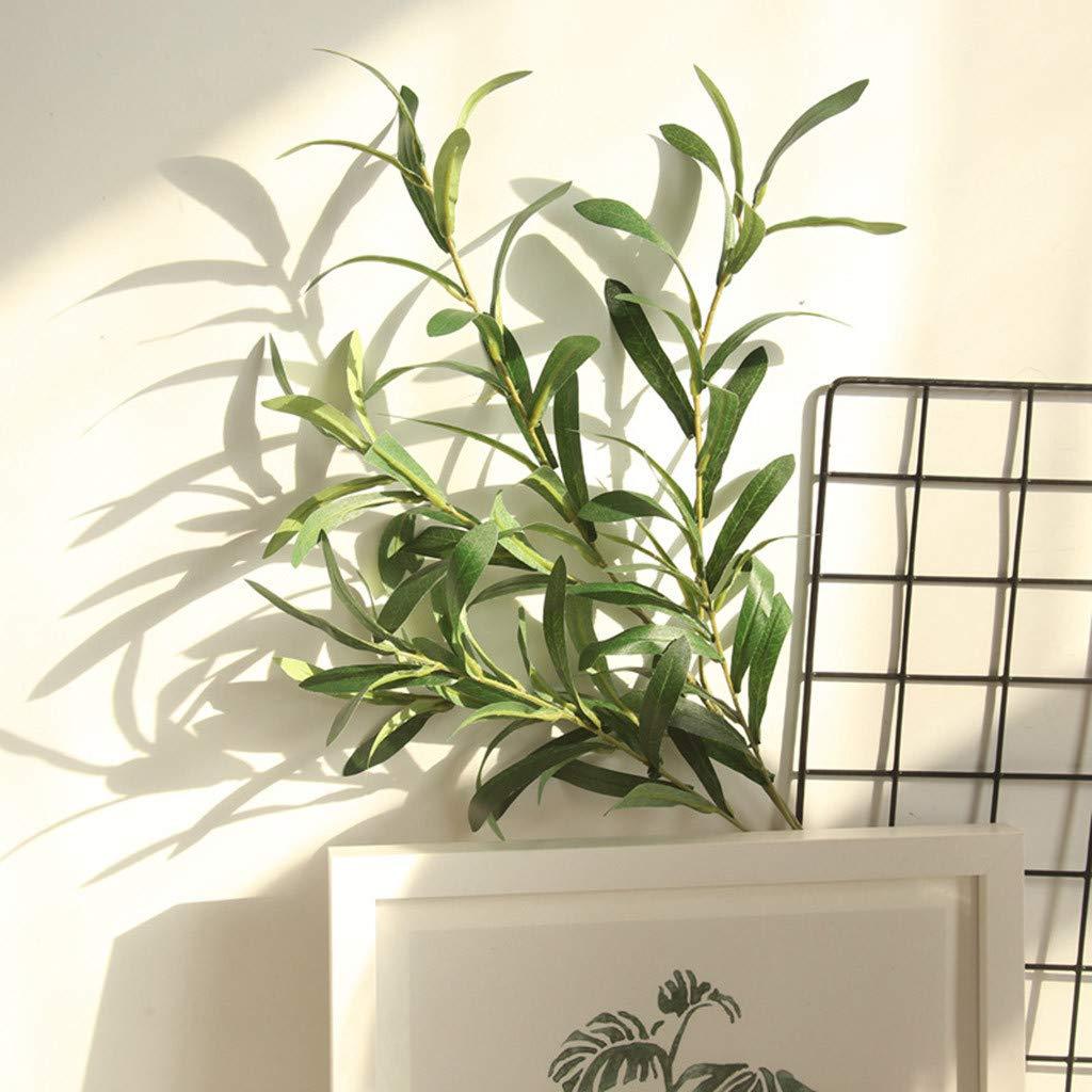 Onefa 人工植物 フェイクリーフ 葉 ブッシュ ホーム オフィス ガーデン フラワー ウェディング バレンタインデー ブーケ パーティー ホーム グリーン 1 B07N1BRMK2 グリーン